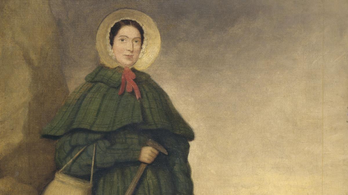 Mary Anning, pionera de la paleontología.
