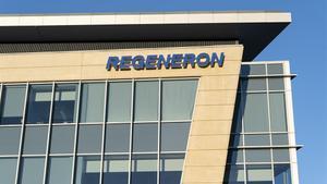 Sede de Regeneron, el medicamento de anticuerpos sintéticos aprobado en EEUU.