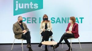 Acto de campaña de JxCat sobre temas de salud, con la presencia de la candidata Laura Borràs.