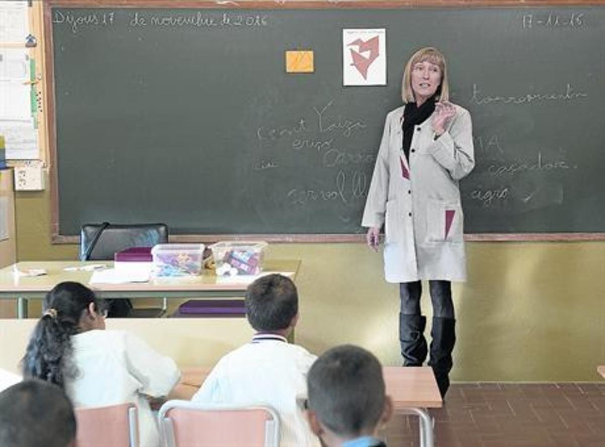 Clase de segundo de primaria en el colegio público Balàfia, en Lleida.