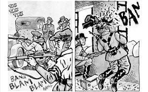 Viñetas del cómic 'La balada del norte 2', de Alfonso Zapico, sobre la Revolución de Asturias.