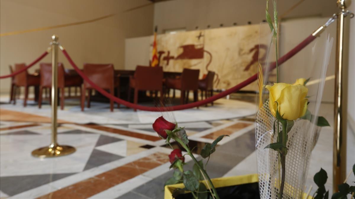 El Saló Tàpies del Palau de la Generalitat.