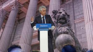 Adolfo Suárez Illana durante unaconvencióndel Partido Popular.