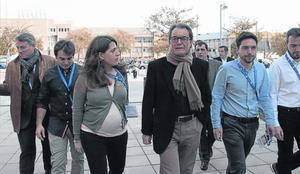 Artur Mas, junto a la líder de la Joventut Nacionalista de Catalunya (JNC), Marta Pascal, ayer en Mataró.