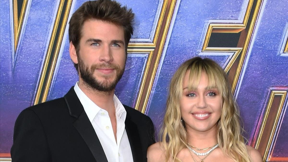 Liam Hemsworth y Miley Cyrus.