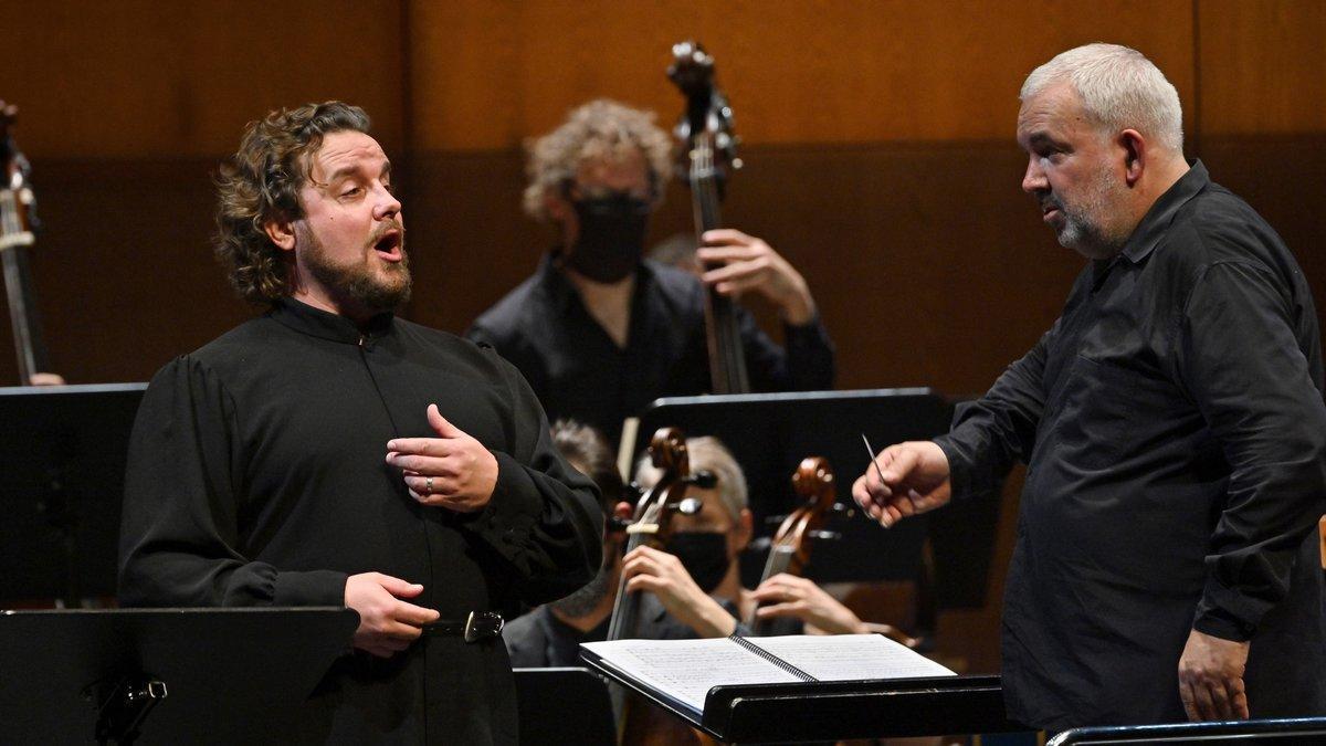 Michael Spyres y Marc Minkowski en el 'Mitridate' del Liceu