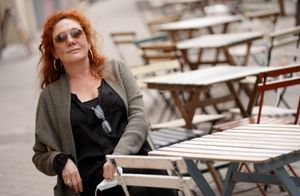 Cristina Fallarás, autora de 'El evangelio según María Magdalena', en Madrid, este martes.