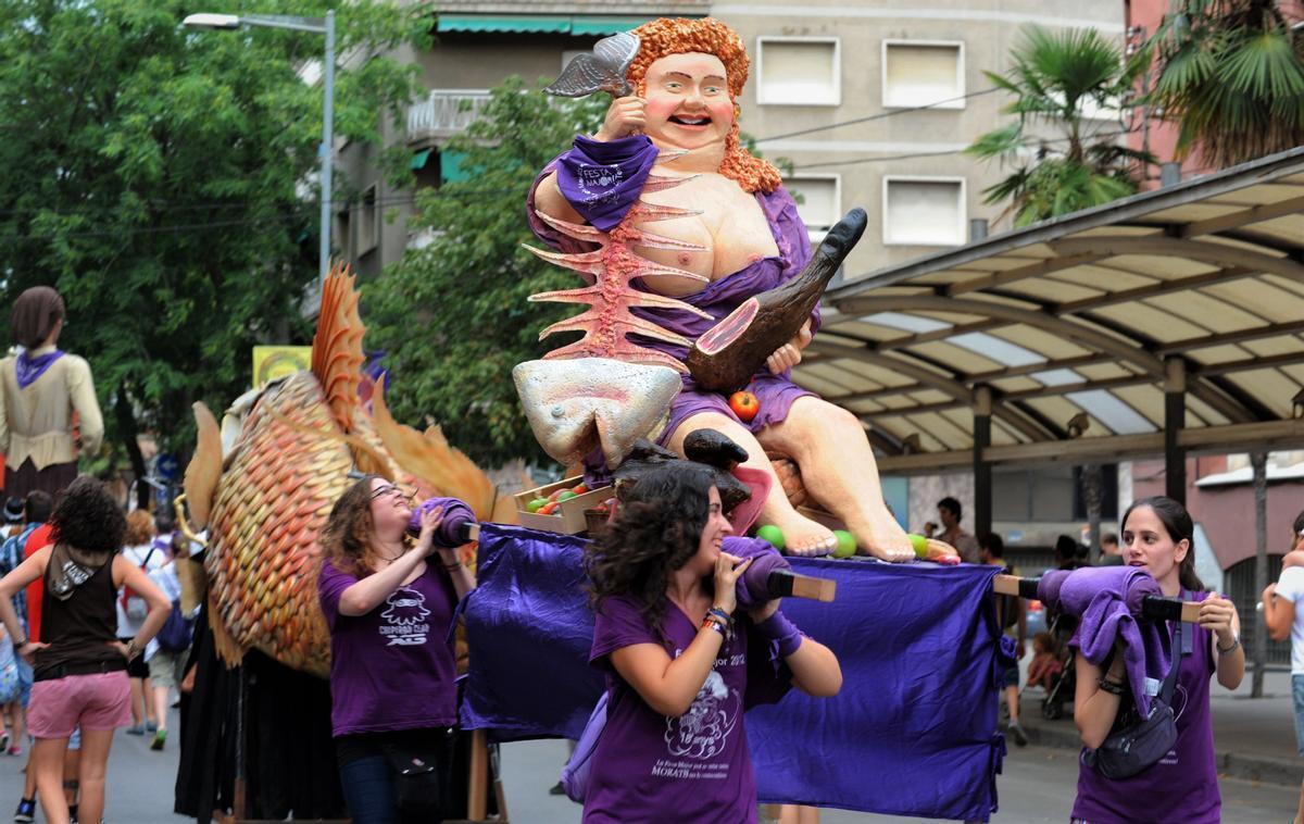 Imagen de archivo de la procesión de la Santa Teca en Mollet del Vallès.