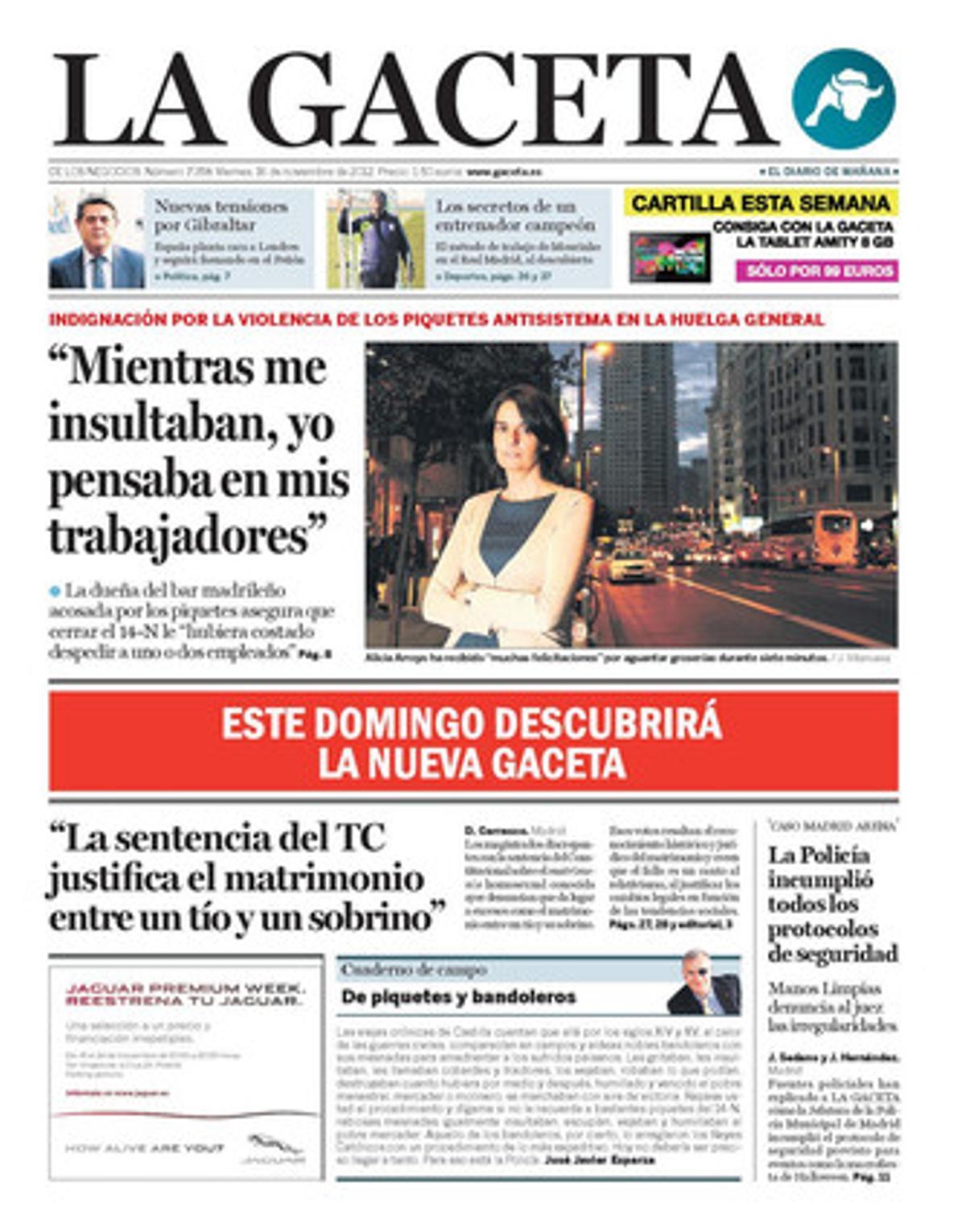 La Gaceta, 16-11-2012.