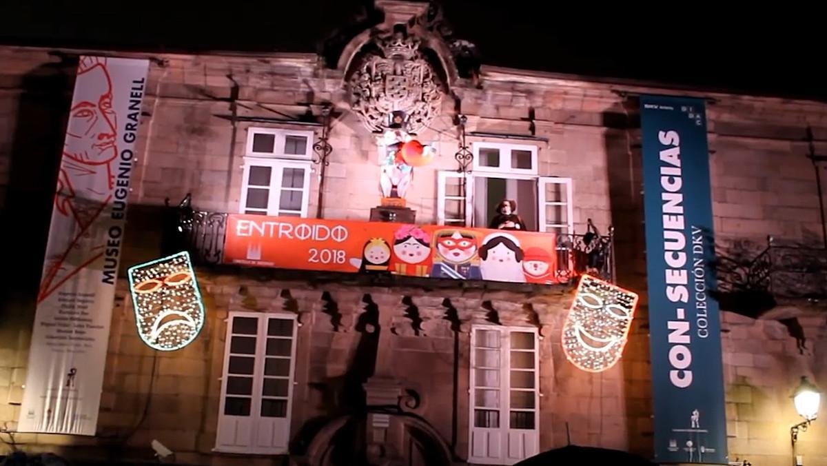 Santiago durante el Carnaval.