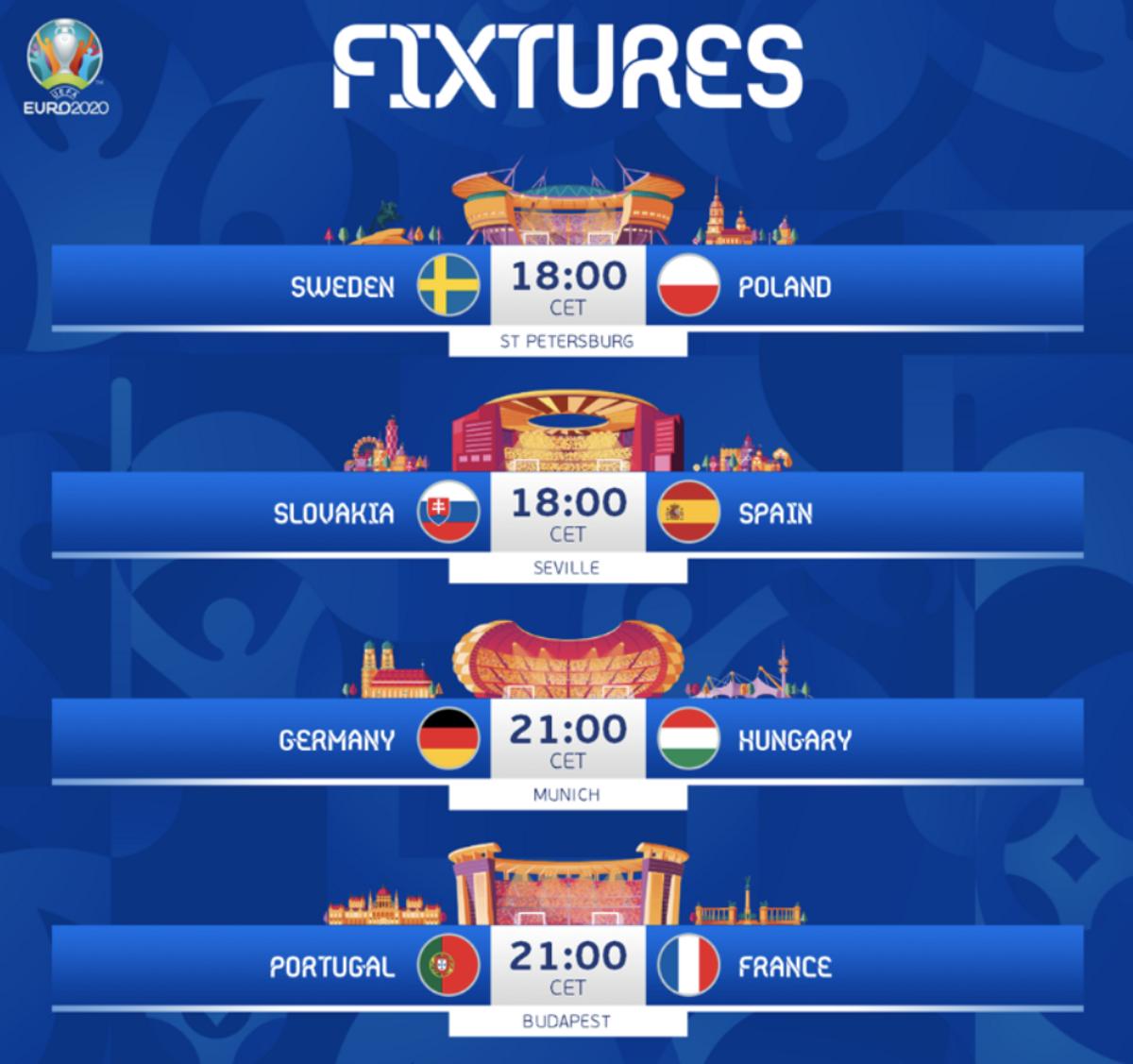 Alineacions probables dels partits de l'Eurocopa-2021 d'avui