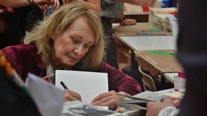 La escritora francesa y premio Formentor Annie Ernaux.