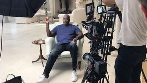 Imagen del documental The last dance con Michael Jordan.