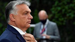 El primer ministro húngaro, Víktor Orban, a su llegada a una cumbre en Bruselas el pasado 19 de julio.