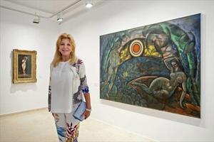 Carmen Thyssen inaugura muestra en Sant Feliu