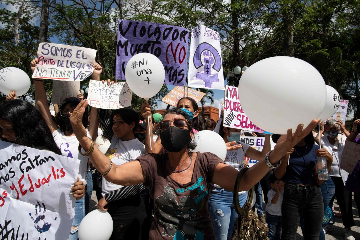 Protestas en Venezuela por el repunte de asesinatos machistas