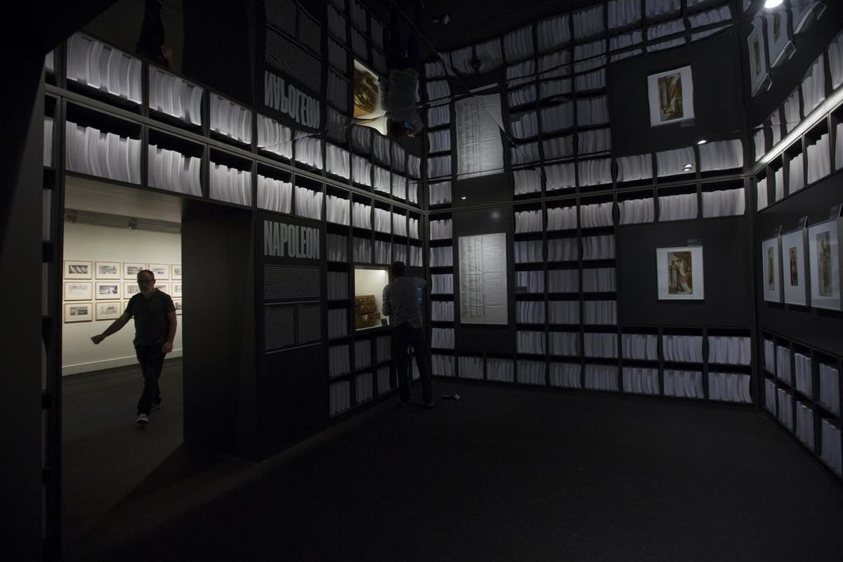 Imagen de archivo de la exposición de Stanley Kubrick en el CCCB.