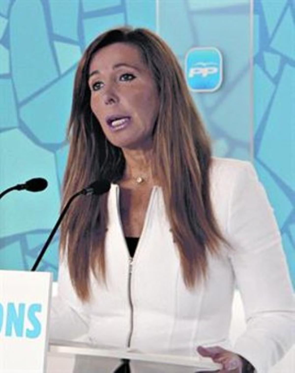 Alicia Sánchez-Camacho, en la sede del PPC.