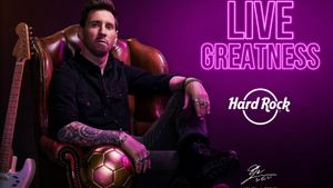 Messi, amb pilota i guitarra, nova imatge de Hard Rock Cafè