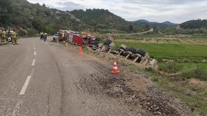 Accidente de tráfico en el término municipal de Vinaixa (Les Garrigues)