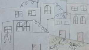 Dibujos de niños y niñas palestinos de los programas de Save the Children en Cisjordania donde expresan sus experiencias diarias.