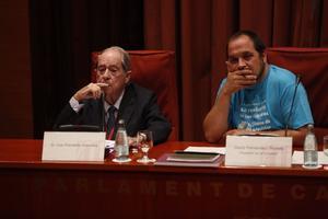 El exsecretario general de Presidència Lluís Prenafeta, este martes, durante su comparecencia en la 'comisión Pujol'.