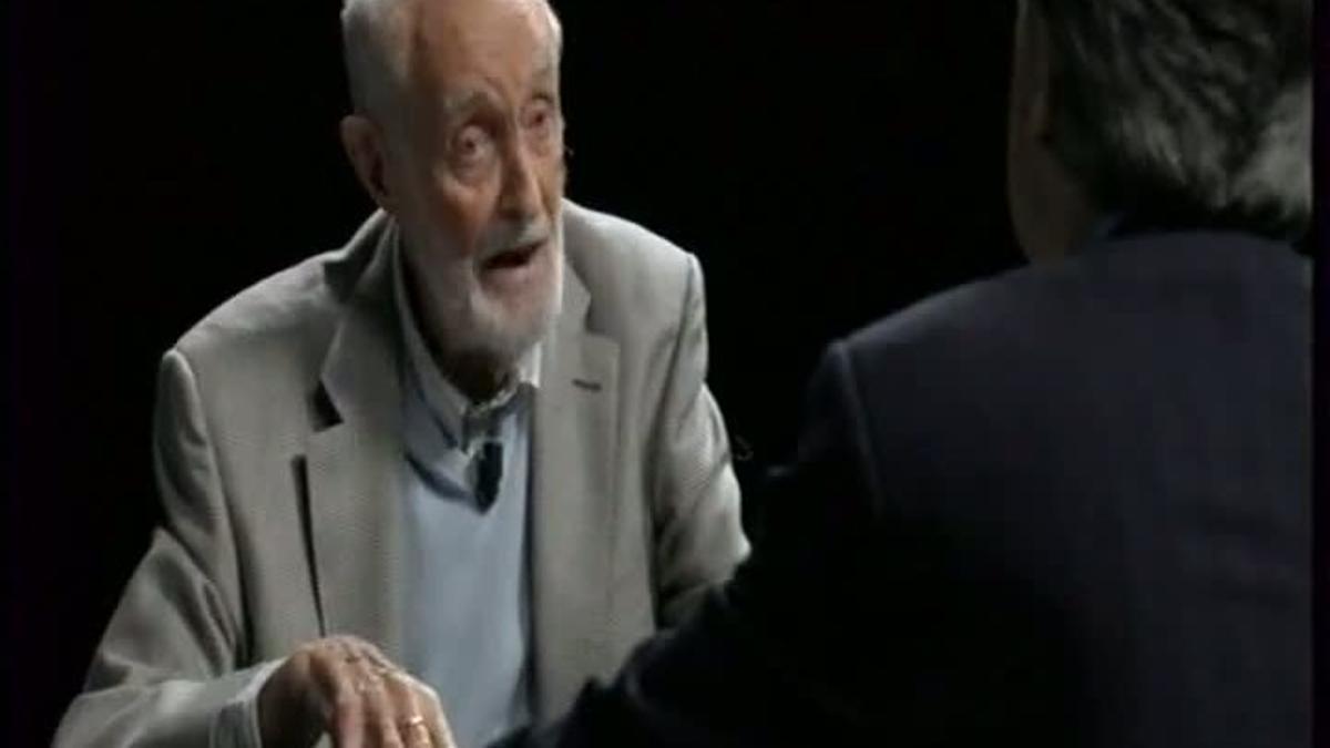 José Luis Sampedro visitó a Iñaki Gabilondo en Canal+.