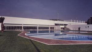 Imagen exterior del Polideportivo Ca n'Arimon, en Mollet del Vallès.