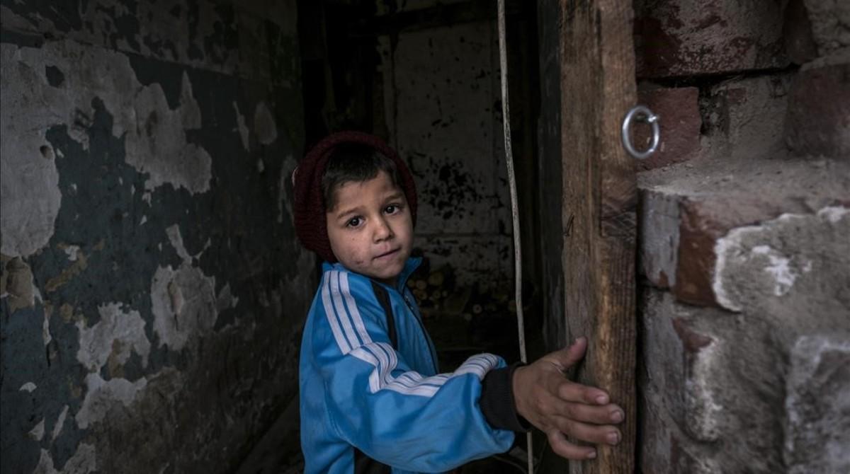 Nicosor, una niña de Bucarest (Rumanía).
