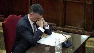 Santi Vila, durante su declaración en el Supremo.