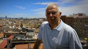 El exministro del PSOE, Josep Borrell, en junio en Barcelona.