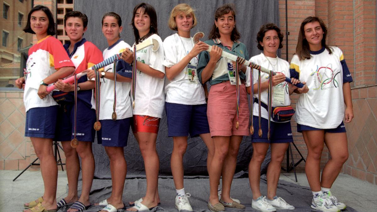 Equipo hockey hierba femenino campeon Juegos Olimpicos de Barcelona 92