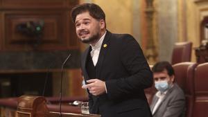 Rufián dice que hablar de pacto de Presupuestos con Cs y ERC es mentir a sabiendas.