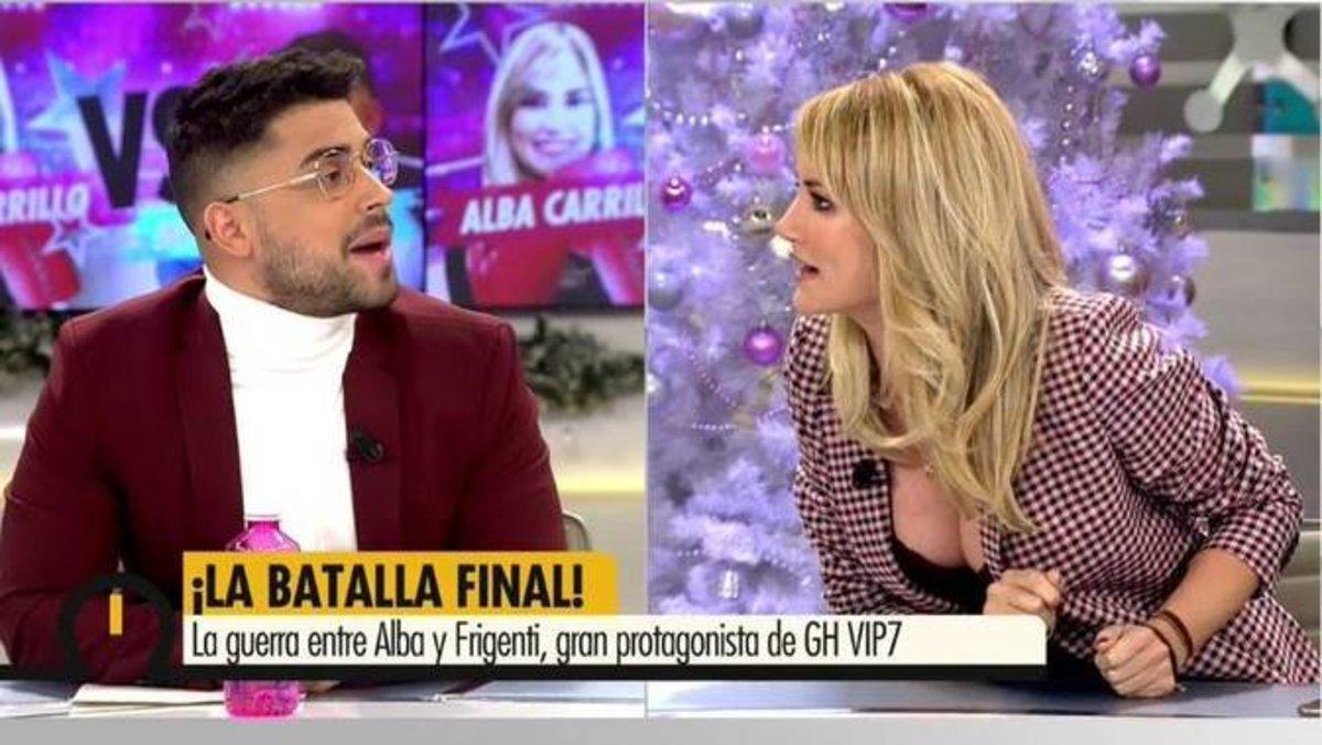 Alba Carrillo abandona el plató de 'Ya es mediodía' tras su tenso reencuentro con Miguel Frigenti