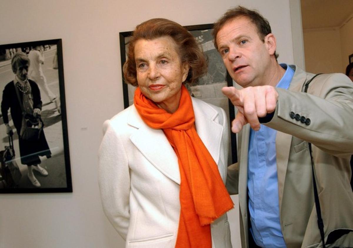 François Banier y Liliane Bettencourt, en el 2004.