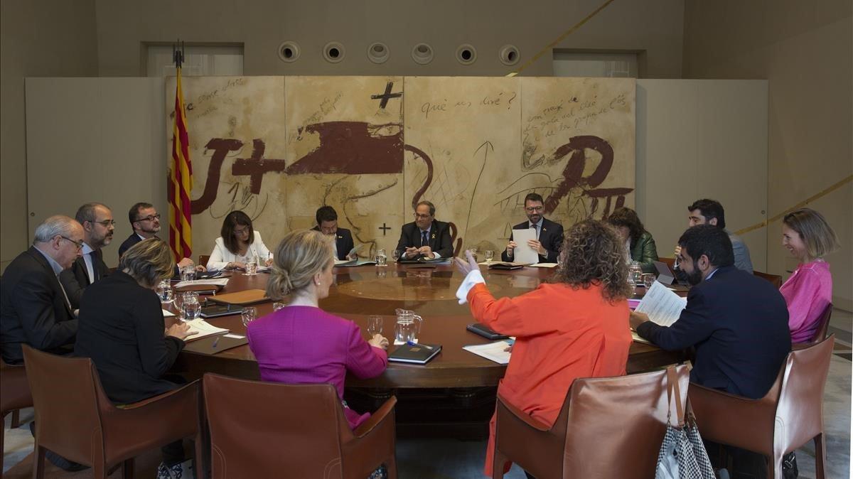 Reunión del Consell Executiu el pasado 28 de mayo.