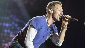 El cantante de Coldplay, Chris Martin, durante un concierto en Buenos Aires.