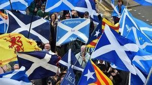 35.000 persones demanen un nou referèndum d'independència a Escòcia