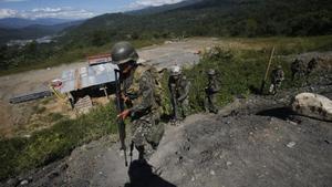 Militares en la región del VRAEM, donde tiene presencia la guerrilla maoísta Sendero Luminoso.