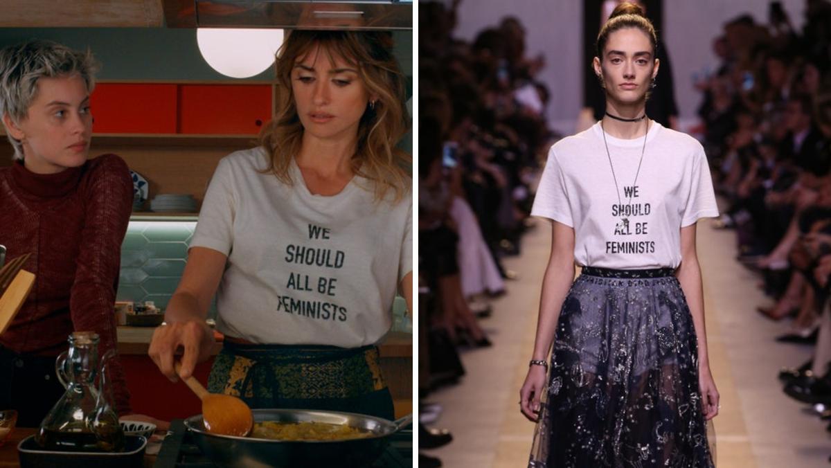 Penélope Cruz ha relanzado la camiseta feminista de Dior.