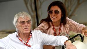 Bernie Ecclestone y Fabiana Flosi.