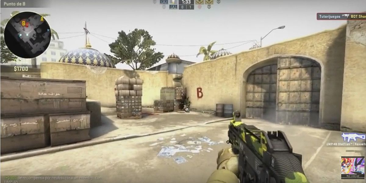 Captura de pantalla de Counter Strike.