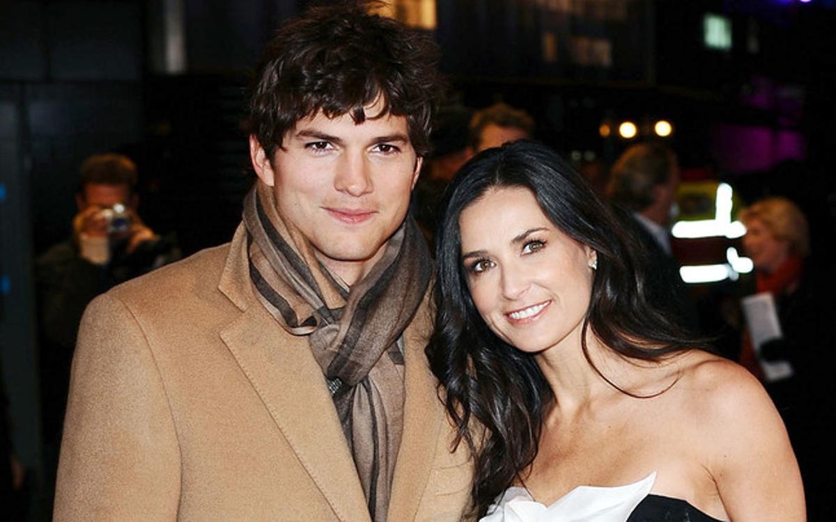La pareja formada por Ashton Kutcher y Demi Moore fue una de las más mediáticas entre 'puma' y 'toy boy'.