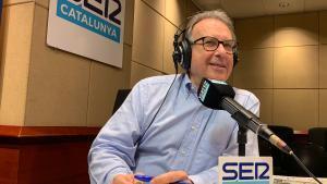 Josep Cuní, en el estudio vacío de SER Catalunya.