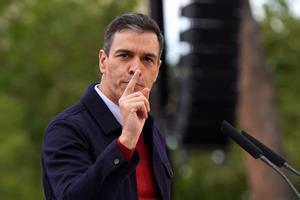 Mitin de cierre de campaña delcandidato del Psoea la presidencia de la Comunidad de Madrid Angel Gabilondo junto al presidente del Gobierno Pedro Sanchez.