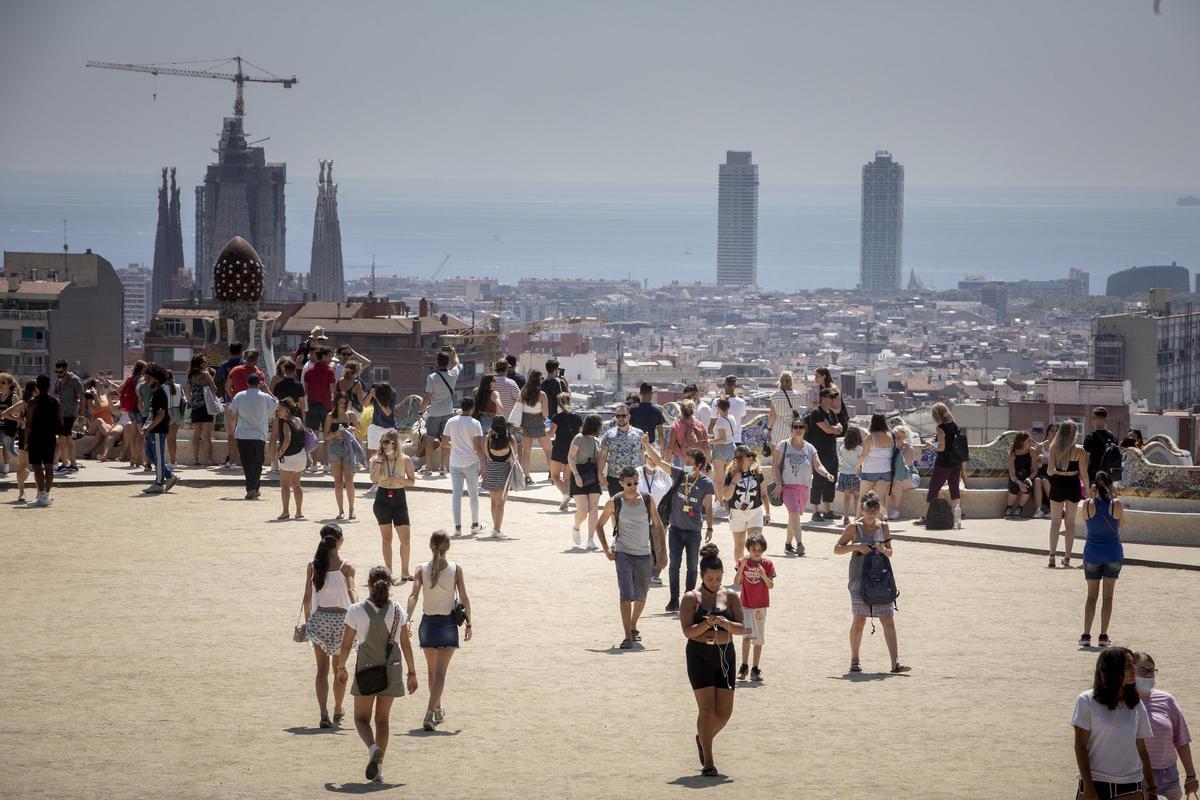 El Park Güell de Barcelona, el 29 de julio.