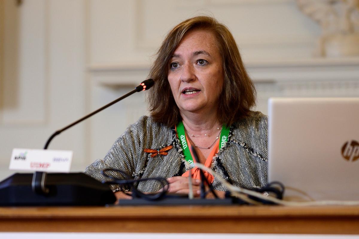 La presidente de la Airef, Cristina Herrero, en un seminario en la UIMP.