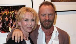 Una imagen de archivo de Sting y su mujer Trudie Styler.
