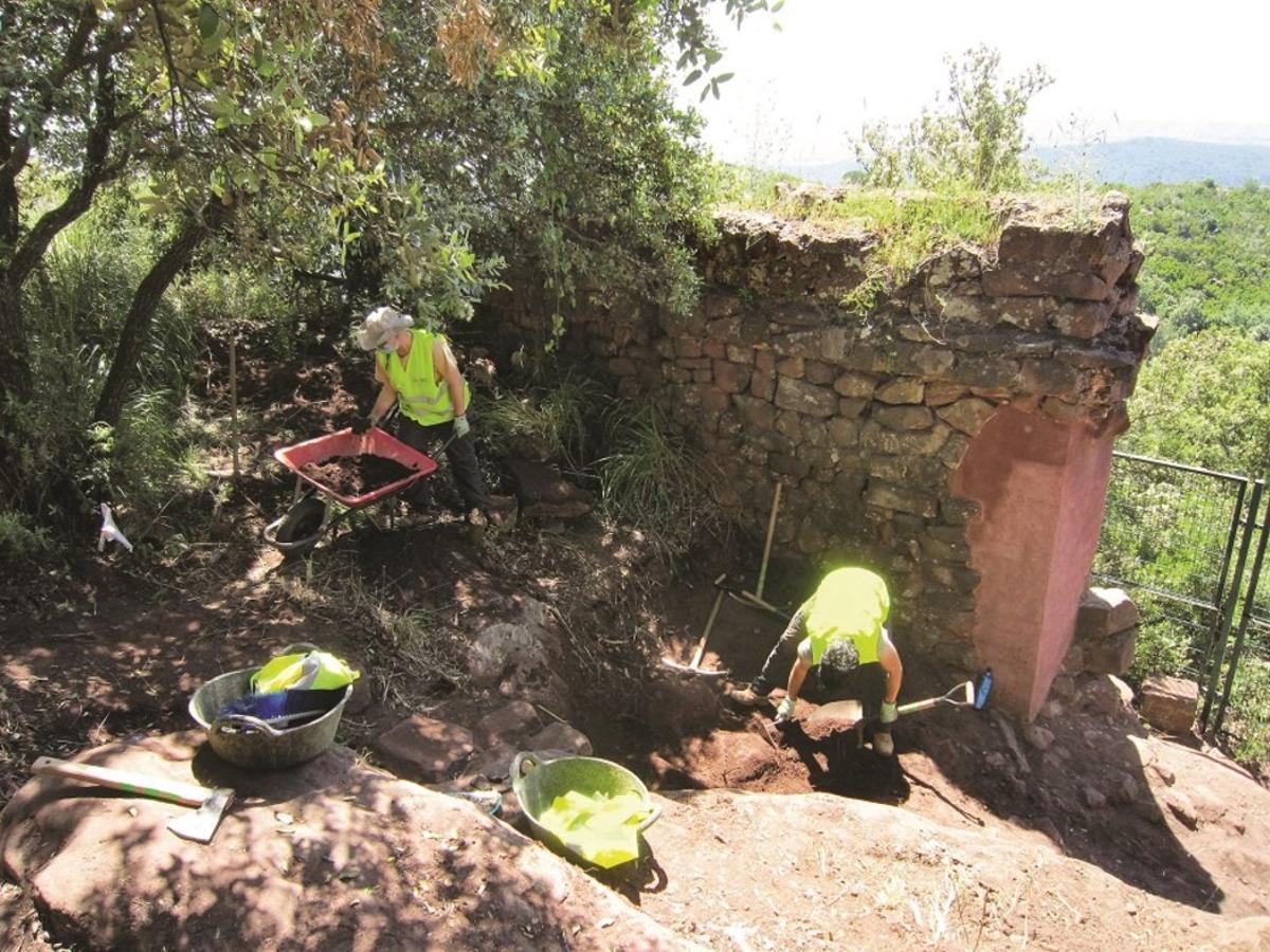 En marxa una nova fase de les obres de restauració del castell d'Eramprunyà de Gavà