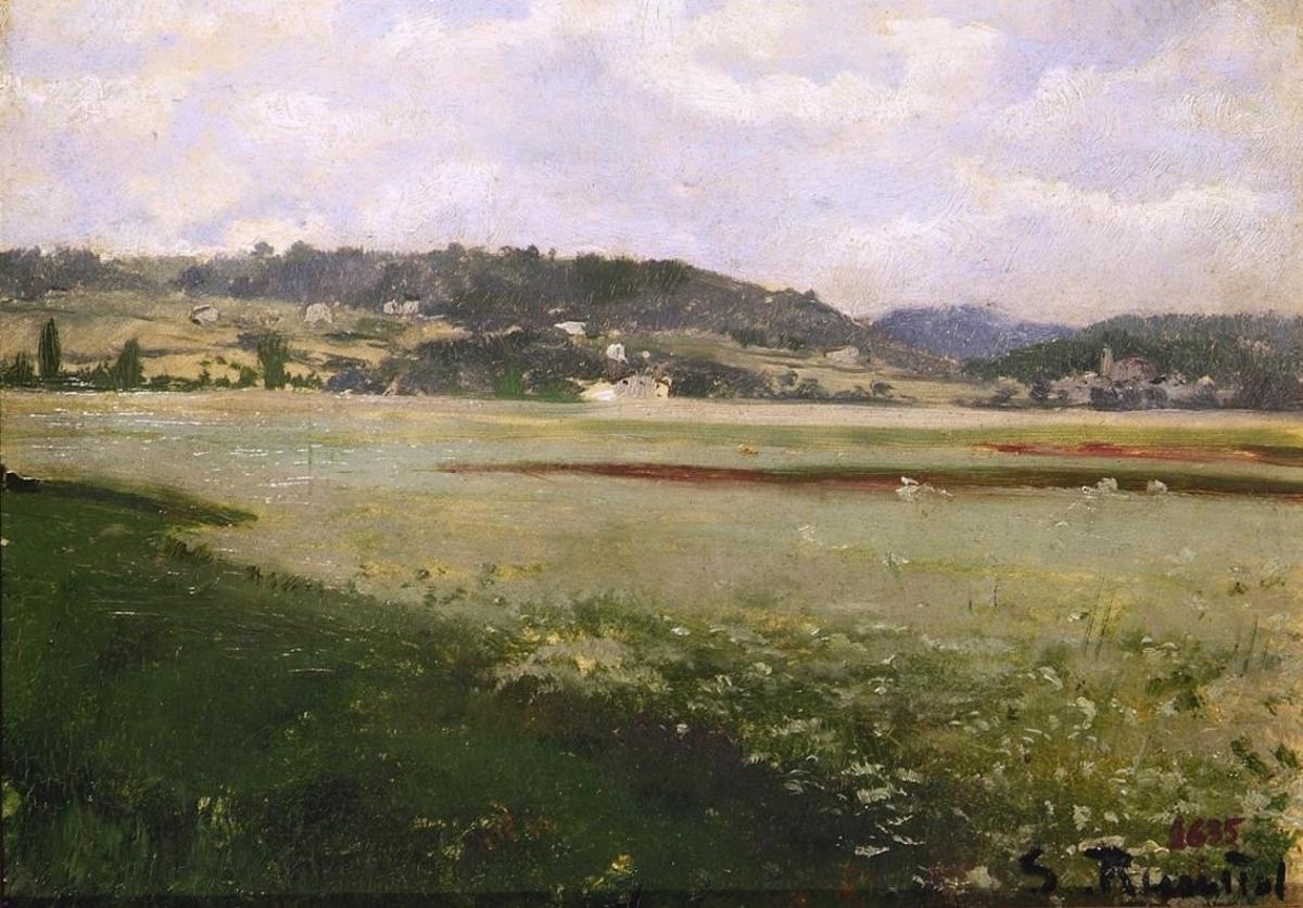 'Paisatge', de Santiago Rusiñol (1889), en la exposición del Museu de la Vida Rural.